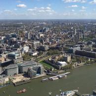 Bei traumhaftem Wetter hatte ich eine tolle Aussicht aus 232m Höhe über London - hier auf den Tower und die Tower Bridge